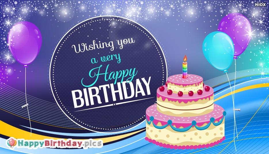 Wishing You A Very Happy Birthday Message