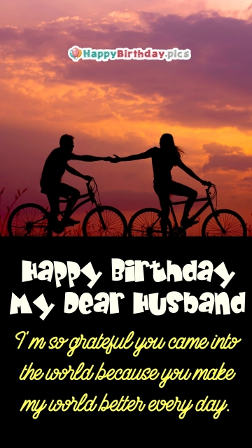 Happy Birthday My Dear Husband