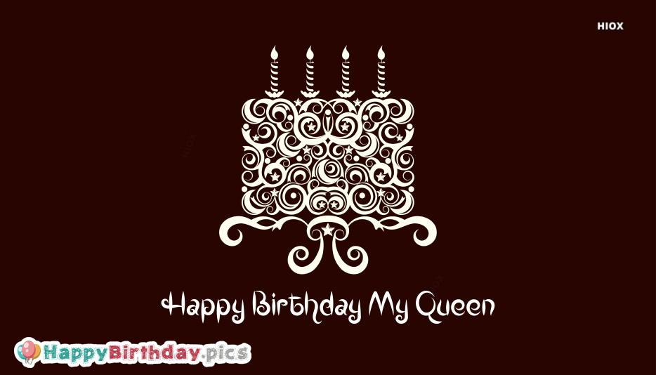 Happy Birthday My Queen Cake