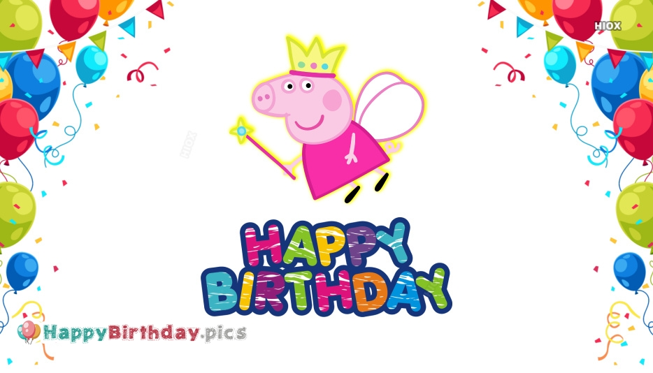 Happy Birthday Peppa Pig Images