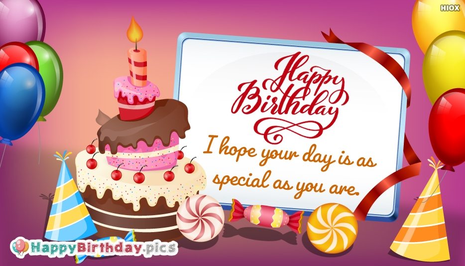 Special Happy Birthday Wishes Images