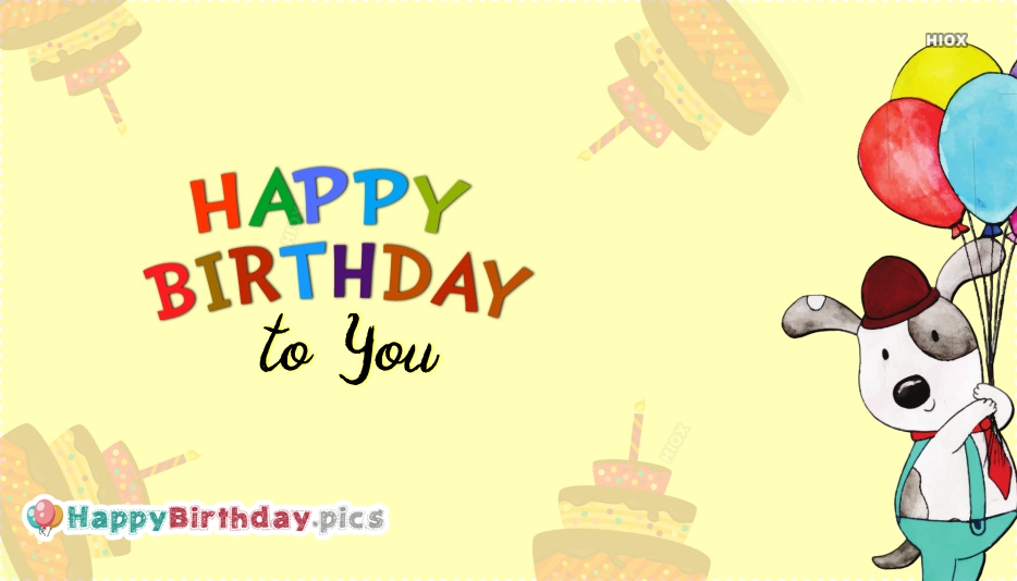 Happy Birthday To You Greeting Image