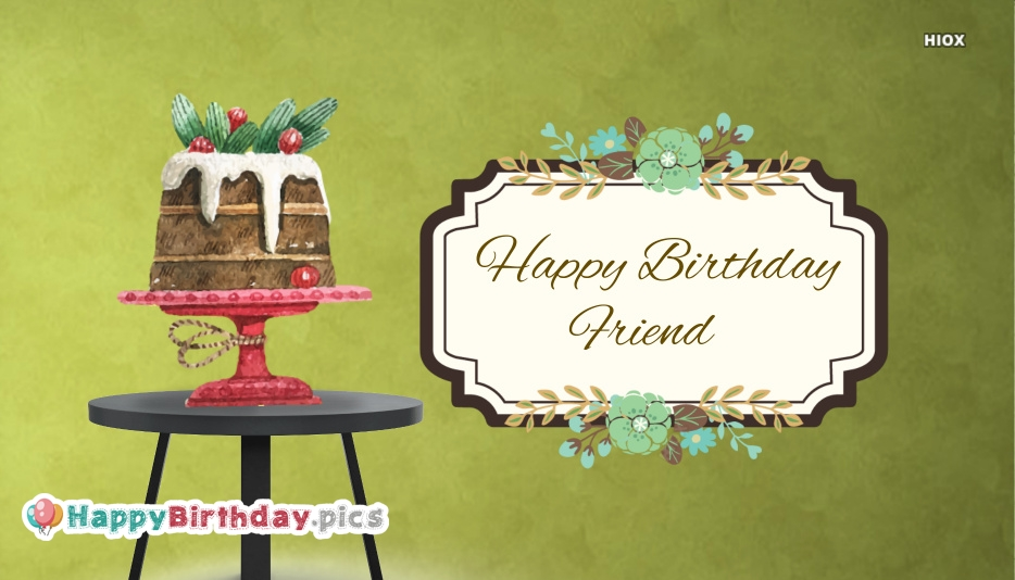 Happy Birthday Wishes For Friend | Birthday Greetings For Friend