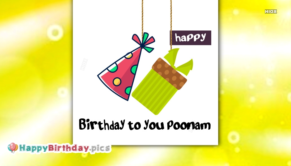Happy Birthday To You Poonam Birthday Greeting with Names