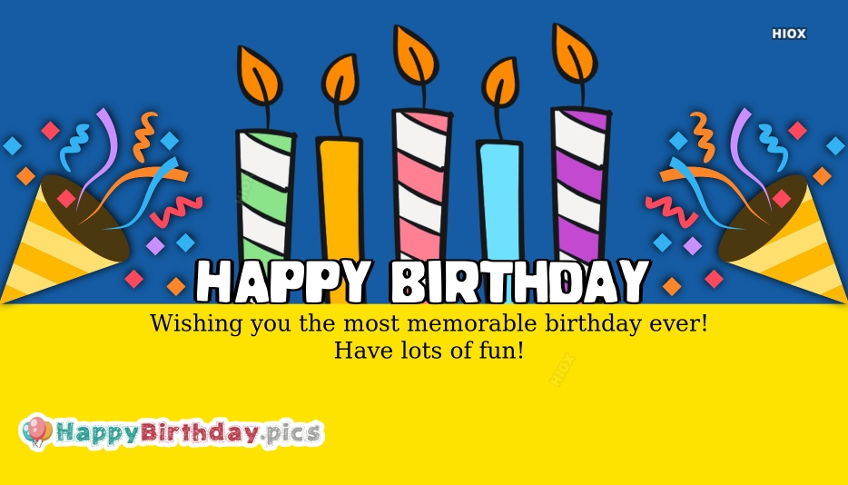 Happy Birthday Wishes Greetings