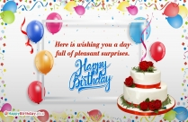 Birthday Wishes For Pleasant Surprises