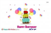 Happy Birthday Just For You