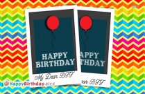 Happy Birthday Dear Bff Greeting Image Download