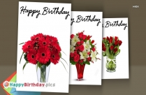 Happy Birthday Red Flowers