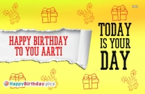 Happy Birthday To You Aarti