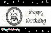 Happy Birthday To You Black And White