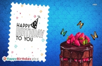 Happy Birthday To You Cake Image Download