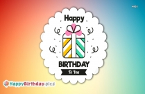 Happy Birthday Colourful Images