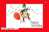 Happy Birthday With Monkey