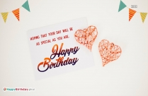 Special Birthday Wish Greeting Image