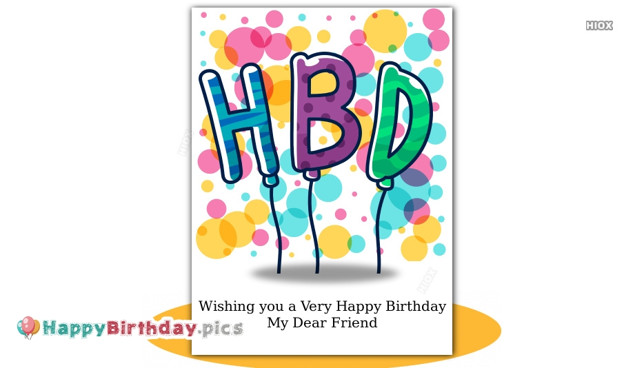 Friend Happy Birthday Images, Pictures